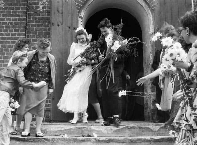 После венчания в Храповской церкви