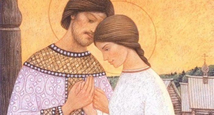 Как изображают на иконах святых супругов?