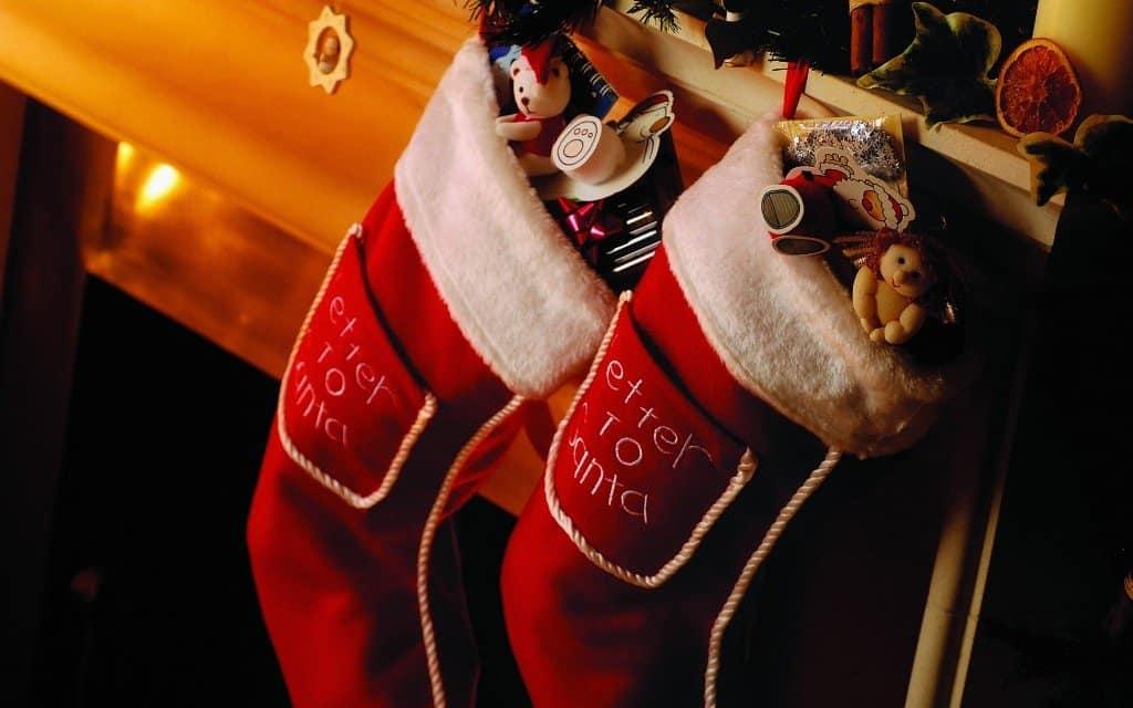 Рождественский сапожок для подарков