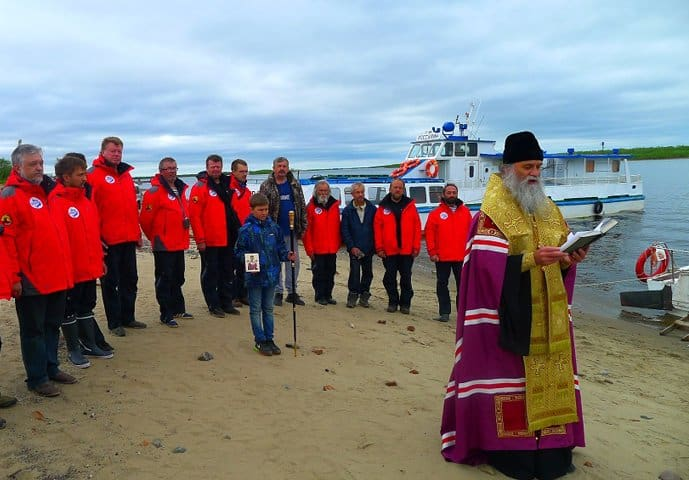 Из Нарьян-Мара стартовала морская экспедиция в честь 700-летия святого Сергия Радонежского