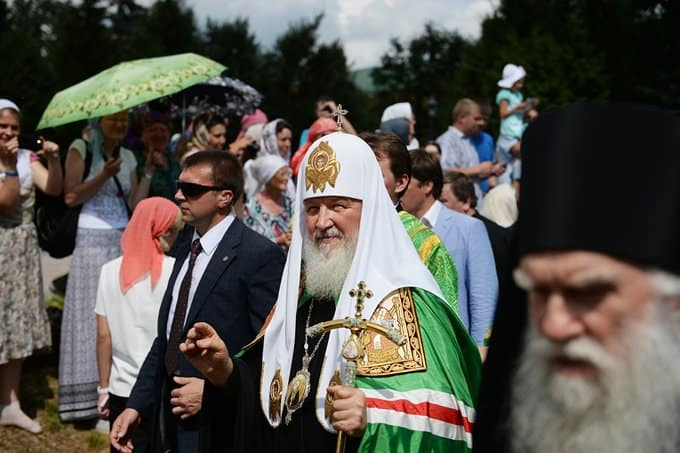 Патриарх Кирилл считает святость национальной идеей русского народа