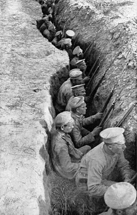 Позиции русских войск