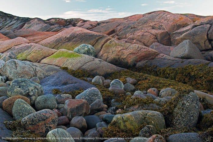 Нейморовец Владимир - Гранитные волны  Берег на острове Тронный, архипелаг Кузова́ в Белом море