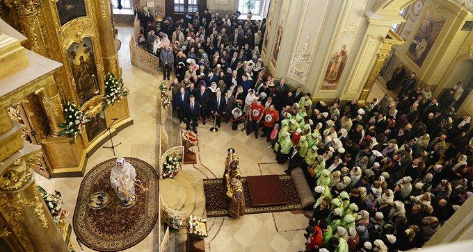 Патриарх Кирилл освятил столичный храм, который восстанавливали шесть лет