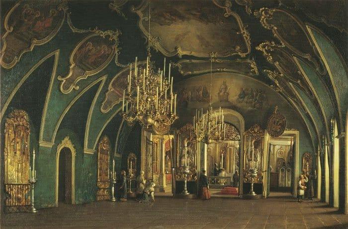 С. М. Шухвостов. Внутренний вид Алексеевской церкви Чудова монастыря. 1849