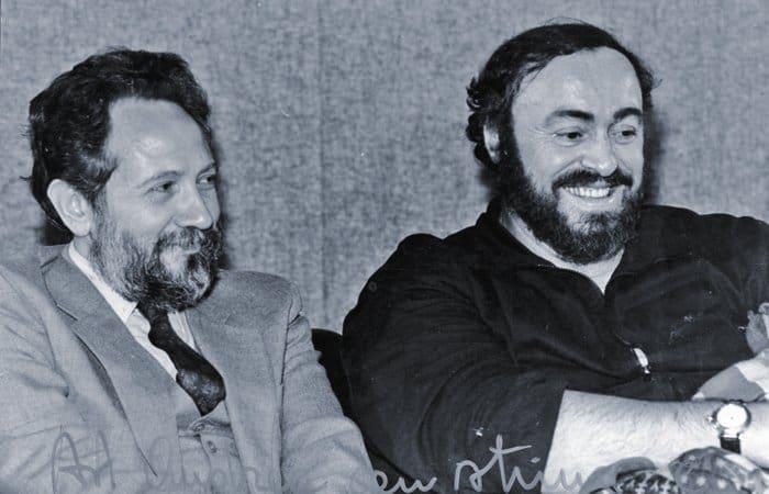 С Лучано Паваротти