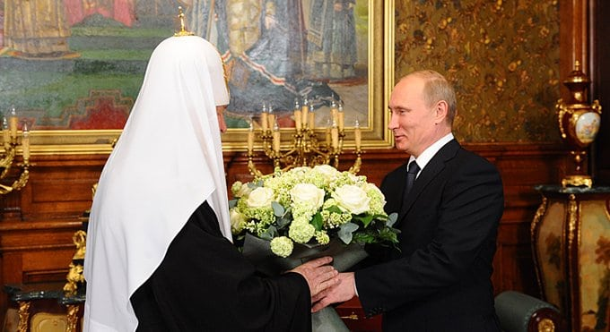 Патриарх Кирилл поблагодарил Владимир Путина за заботу о духовности народа