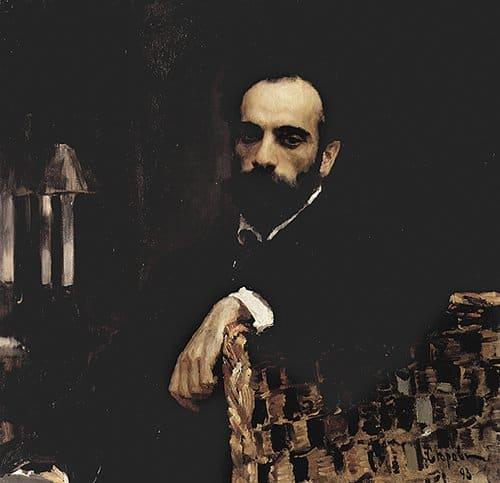 Портрет художника И. И. Левитана. В. А. Серов. 1893