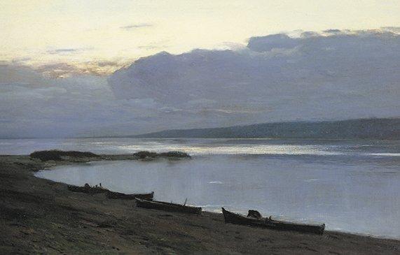 Вечер на Волге. 1887-1888