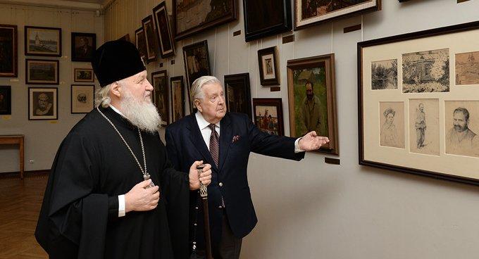 Илья Глазунов - патриот, болеющий за судьбу России, - патриарх Кирилл