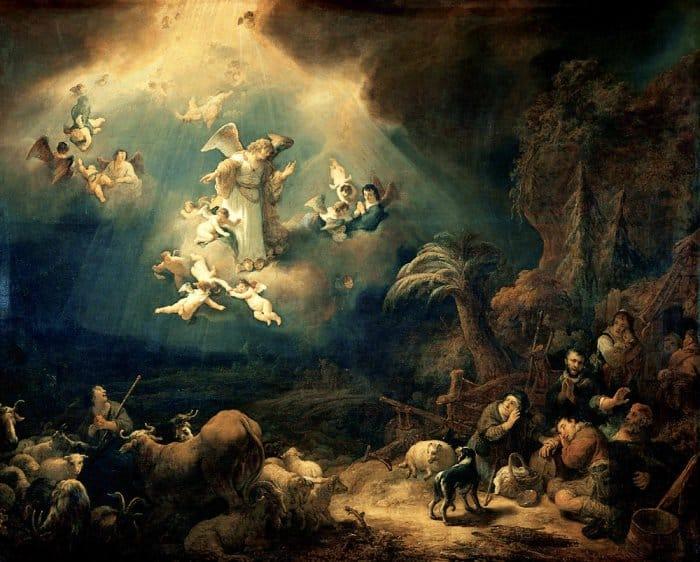 Благовещение пастухам. Говерт Флинк, 1639 г.