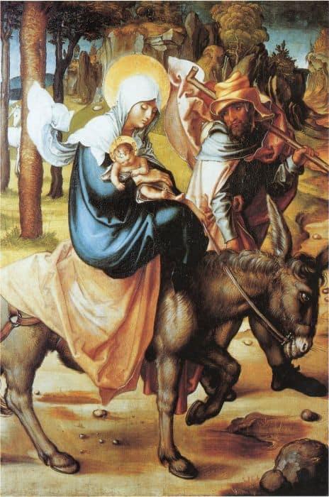 Бегство в Египет. Альбрехт Дюрер, 1494–1497 г.