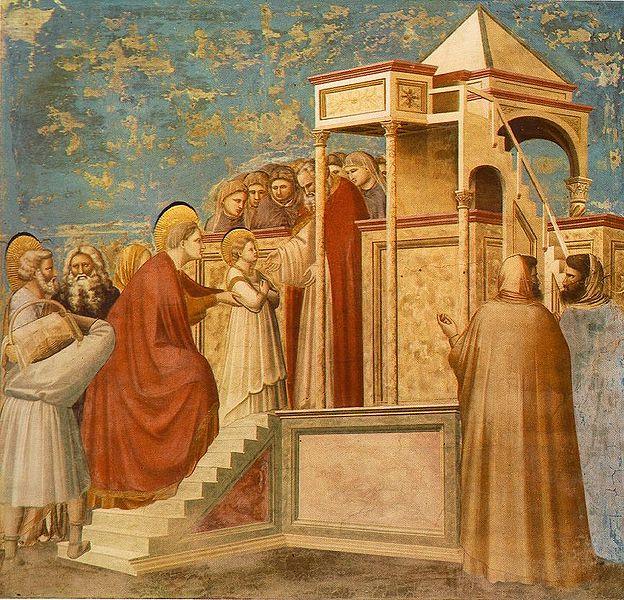 Введение во Храм Пресвятой Богородицы. Джотто