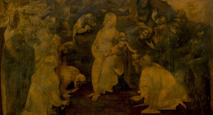 Леонардо да Винчи: «Поклонение волхвов»
