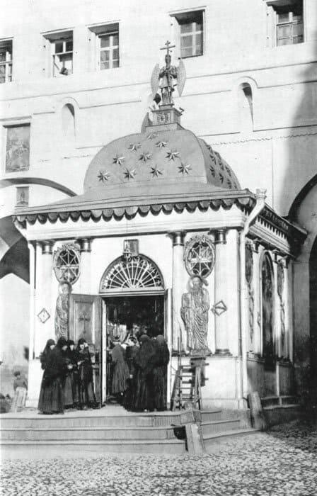 Часовня Иверской Божией Матери. Архитектор Матвей Казаков, 1791 г. Фото начала XX века