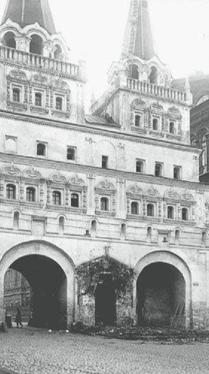 Место снесенной Иверской часовни, 1929 г.