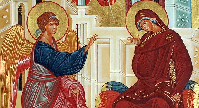 Православные встречают Благовещение Пресвятой Богородицы