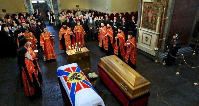 Прах князя Николая Романова упокоили на кладбище героев Первой мировой