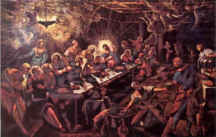 Тайная вечеря. Тинторетто, 1594 г.