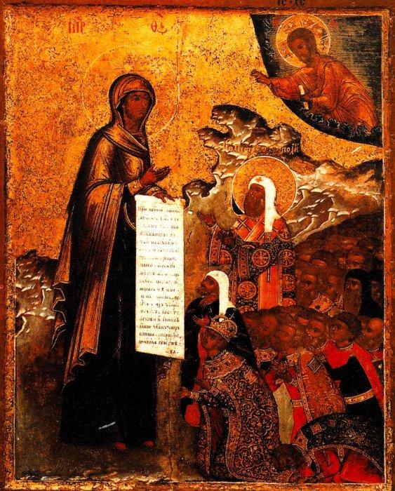 Боголюбская икона Божией Матери. Иконография