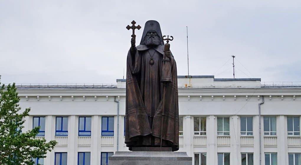 В Магадане открыли памятник святителю Иннокентию (Вениаминову)