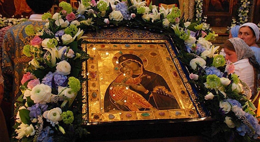 Церковь чтит Владимирскую икону Божией Матери