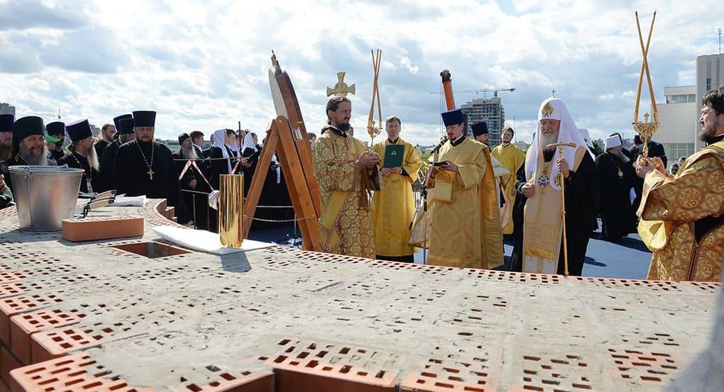 Патриарх Кирилл заложил храм Сергия Радонежского в Чебоксарах