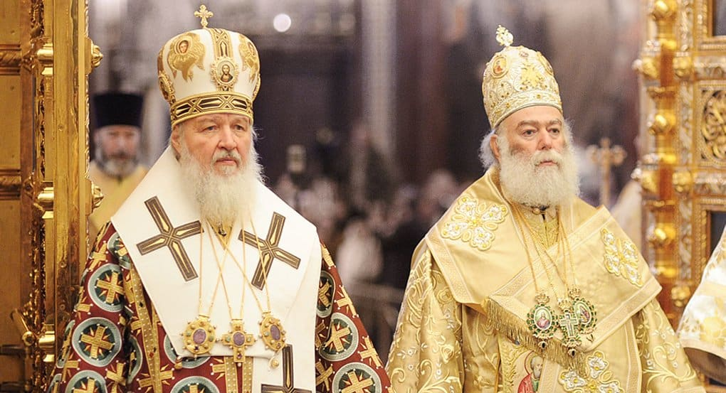 Богослужение в честь Успения Богородицы возглавили патриархи Кирилл и Феодор II