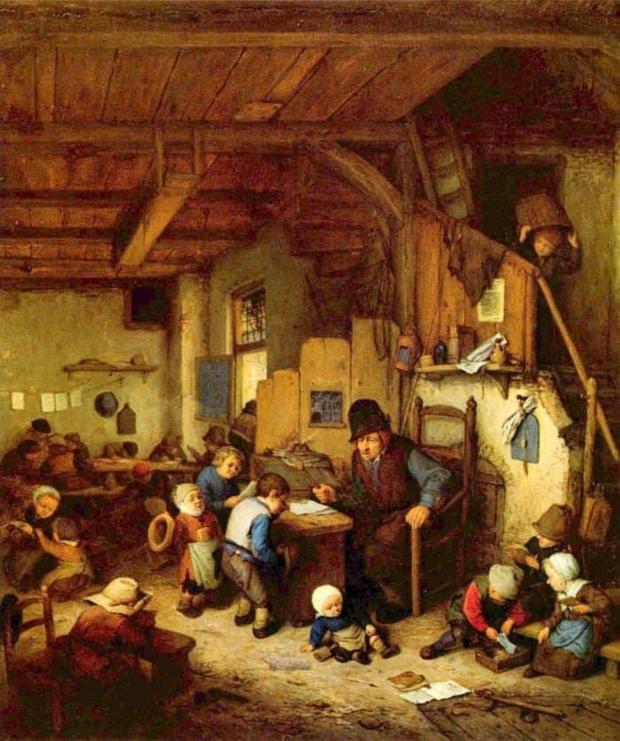 Adriaen van Ostade. The School Master