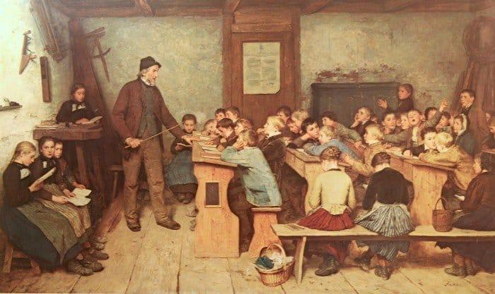Анкера С. А. Сельская школа, 1858 г.