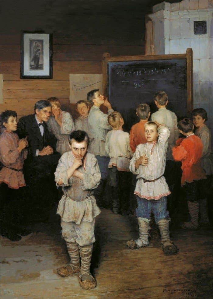 Богданов-Бельский Николай Петрович (1868 — 1945). Устный счёт в народной школе С.А.Рачинского. 1895