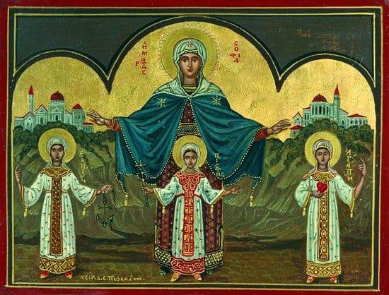 Иконы Веры, Надежды, Любови и матери их Софии
