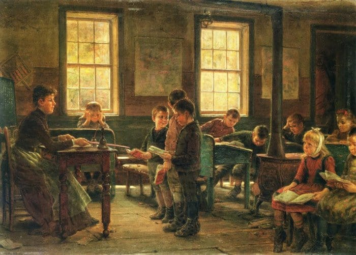 Edward Lamson Henry. A Country School. 1890 г. (1)