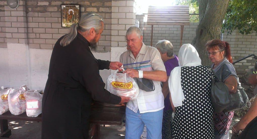Только за сентябрь Церковь передала жителям юго-востока Украины 33 тонны продуктов