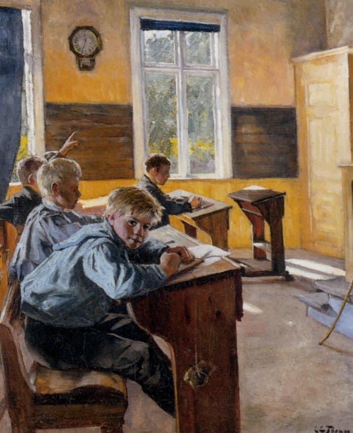 Karen Elizabeth Tornoe. In The Classroom. 1888