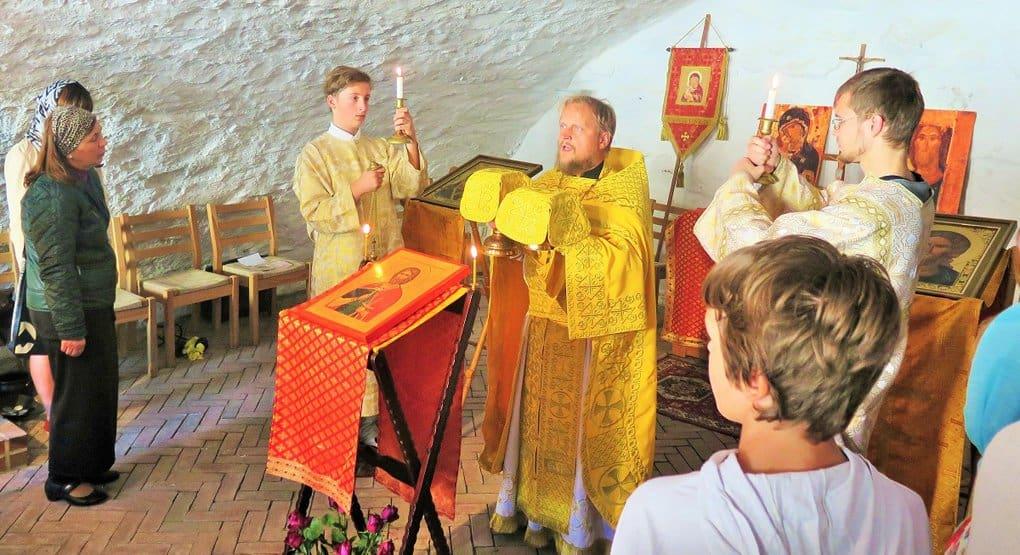 В норвежской крепости впервые отслужили православную Литургию
