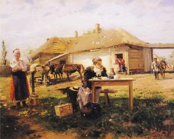 Маковский, Приезд учительницы в деревню