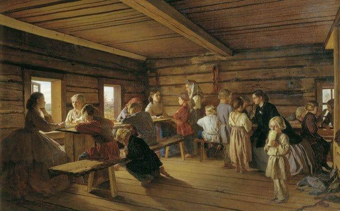Морозов А.И. Сельская бесплатная школа, 1865