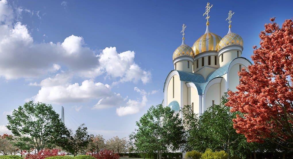 На каждый праздник купола красногорского храма будут особого цвета