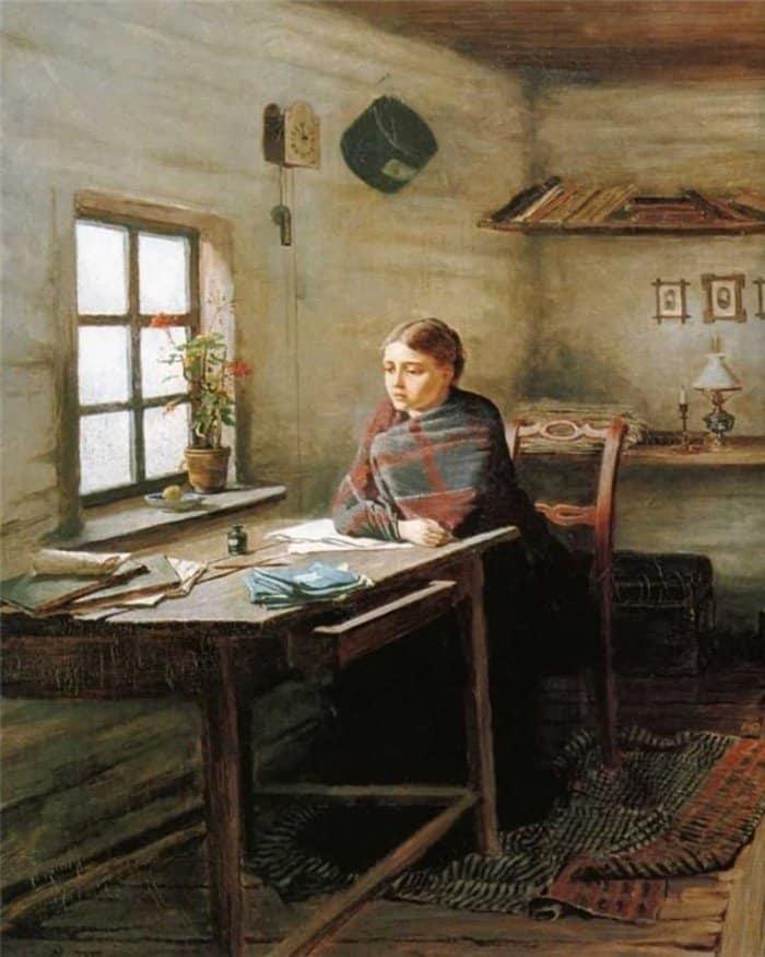 Трутовский Константин Александрович. Сельская учительница. 1883