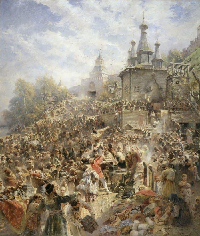 Воззвание Минина к нижегородцам. 1896