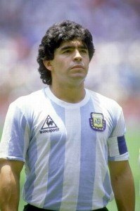 29 Jul 1986: Portrait of Diego Maradona of Argentina before the World Cup final against West Germany at the Azteca Stadium in Mexico City. Argentina won the match 3-2. Mandatory Credit: David Leah/Allsport
