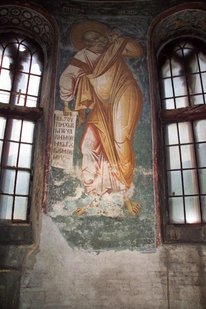 Иона пророк. Балканы. Сербия. Дечаны. XIV в. Сербия. Косово. Монастырь Высокие Дечаны. Купол, Барабан