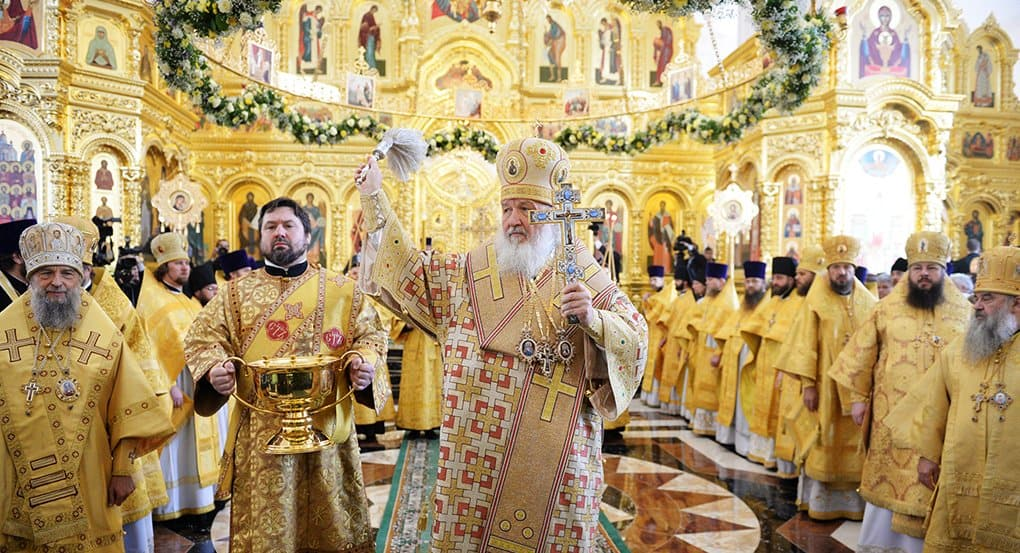 В Саранске патриарх Кирилл освятил храм и памятник святых Кирилла и Мефодия
