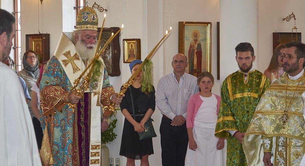 В русском храме в ЮАР впервые совершил Литургию Александрийский Патриарх