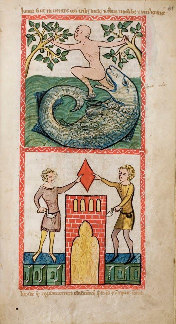 Speculum Humanae Salvationis, Westfalen oder Köln, um 1360.