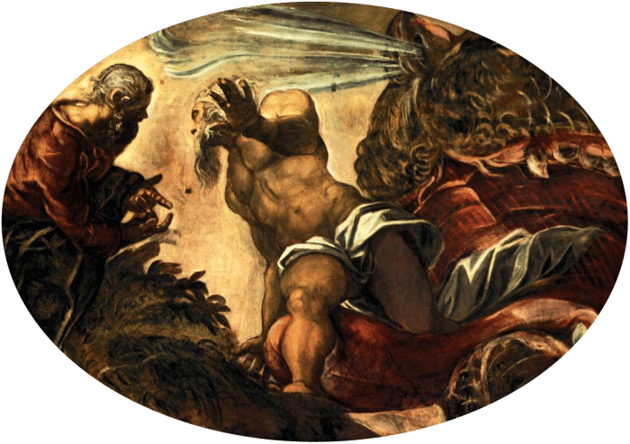 Tintoretto. Jonah Leaves the Whale's Belly. 1577-1578