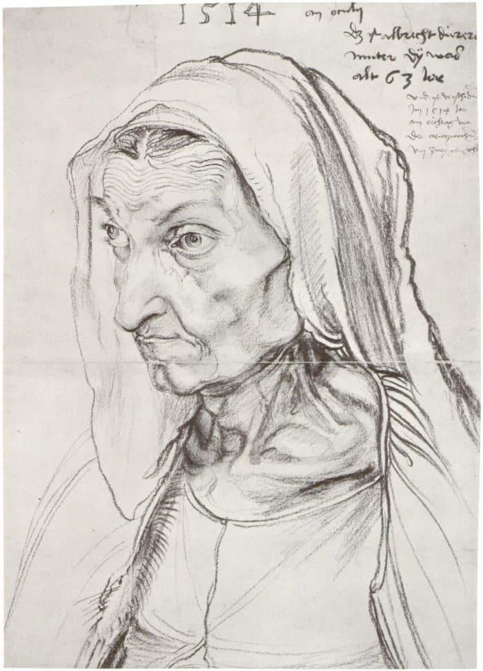 Открытки ко дню матери: Альбрехт Дюрер. Портрет матери
