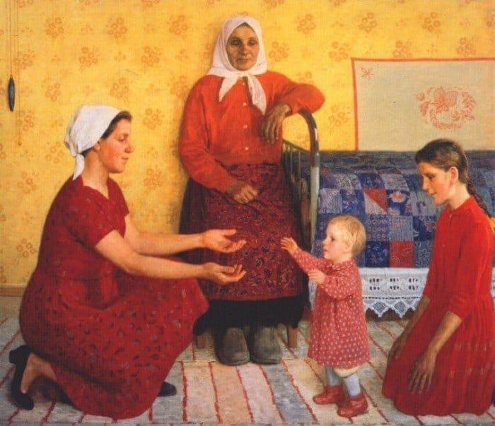 Открытки ко дню матери: Кугач. Ю. П. В семье.