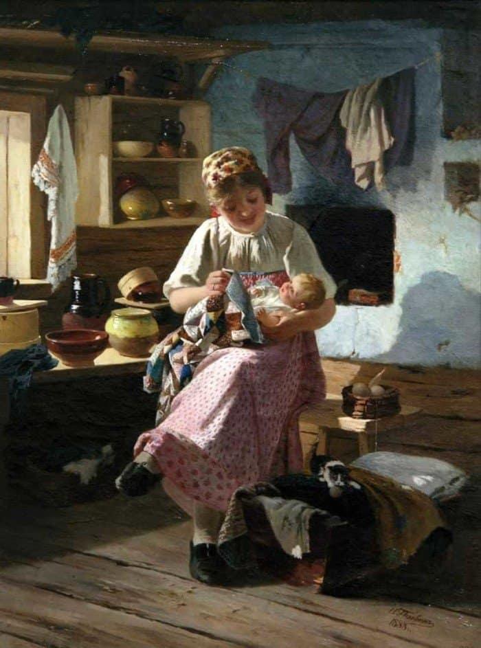 Открытки ко дню матери: Пелевин И. А. Первенец